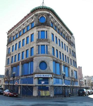 The abandoned Ferdinand furniture store will anchor an office and retail complex in Dudley Square.